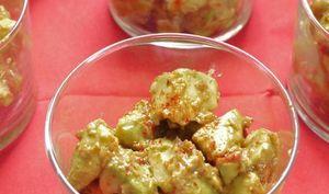 Avocats, sauce harissa maison