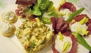 Omelette à la poutargue et Mousse à la Boutargue