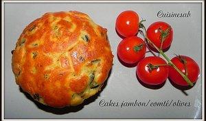 Cake jambon comté olives