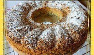 Gâteau marbré au citron et pavots