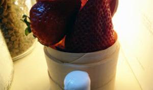 Confiture de fraise aux effluves de géraniums bourbon