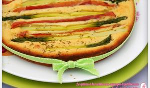 Gateau aux asperges vertes & jambon cru
