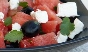Salade pastèque, féta