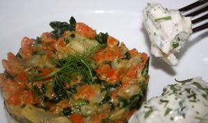 Cabillaud sauce estragon et ses légumes