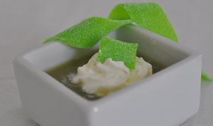 Soupe de smoothie et bandeaux acidulés
