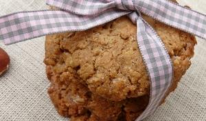 Cookies noisettes, flocons d'épeautre et Dulcey
