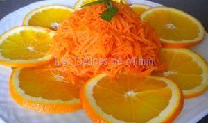 Salade de carottes râpées à l'orange et au miel