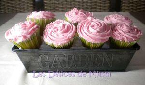 Un bouquet de cupcakes roses