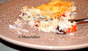 Gratin de riz Tomates séchées Poivrons et Crème de Parmesan