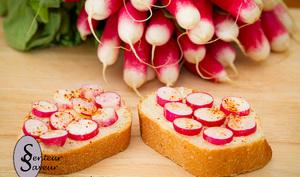 Toast de radis rose