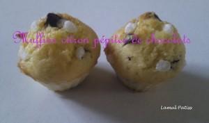 Muffins citron et pépites de chocolat