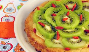 Tarte kiwi, clémentine curd et baies de goji