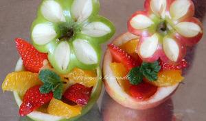 Les pommes fleurs