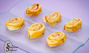 Petits roulés au jambon et au fromage