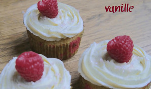 Cupcakes framboise vanille