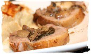 Rôti de porc au champagne