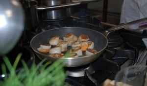 Noix de st jacques poêlées aux truffes ou à la vanille