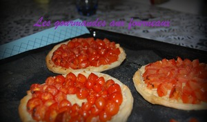 Tartelettes aux tomates cerise
