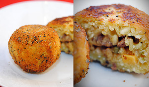 Arancinis, croquettes de riz italiennes