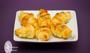 Mini croissants lardons reblochon