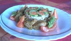 Sauté de dinde au curry, mélange de céréales