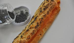 Eclairs à la carotte et aux graines de pavot bleu