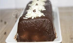 Terrine au chocolat et poire