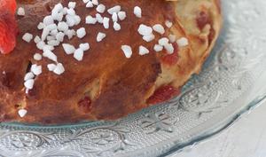 Le royaume à la crème vanillée et aux fraises moelleuses