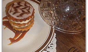 Millefeuille de pommes caramélisées et crème chiboust