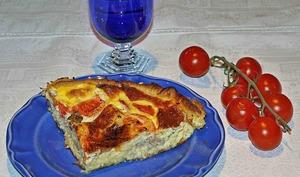 Quiche aux Tomates confites ,Basilic et Thon