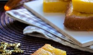 Gâteau à l'orange, safran, poudre d'amande et huile d'olive