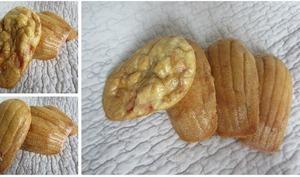 Madeleines salées poivrons rouges et massalé