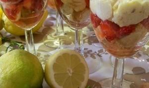 Verrines Malacucina aux fraises corses, brocciu, confiture de clémentines