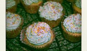 Cupcakes rhubarbe-coco