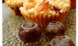 Muffins myrtille, chapeau streusel