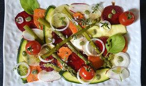 Tartare aux légumes de printemps