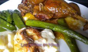 Cuisses de canard confites au miel et aux échalotes caramélisées