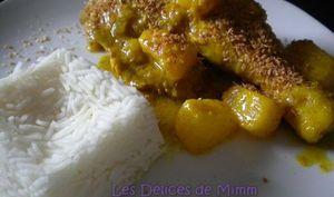 Cuisses de poulet au curry, lait de coco et ananas