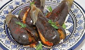 Aubergines marinées à la marocaine