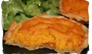 Tartelettes au potimarron et sa pâte au cheddar