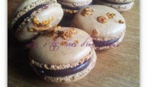 Macarons chocolat-nougatine
