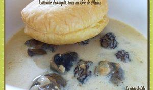 Cassolette d'escargots, sauce au Brie de Meaux