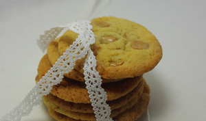 Cookies au chocolat blond
