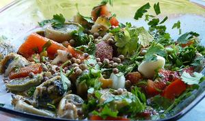 Berniques, palourdes et coques en marinade