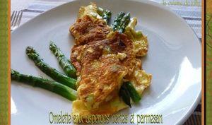 Omelette aux asperges vertes et parmesan