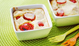 Clafoutis aux tomates cerises et pommes de terre