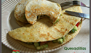 Quesadillas à l'avocat et légumes de printemps