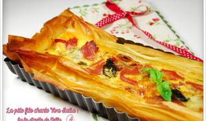 Tarte italienne feuilletée à la pâte filo