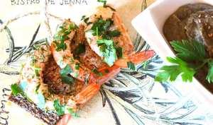 Pavé de saumon au baie rouge et purée de lentille verte du Puy