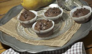 Muffins chocolat, poire et sirop d'érable